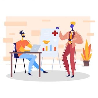 Медицинское / медицинское страхование концептуальное корпоративное illustartion