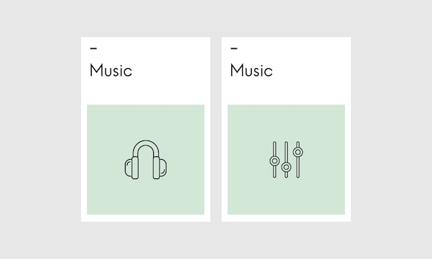 Illustation of music concpet