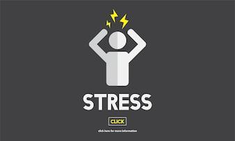 Illustation of stress emotion