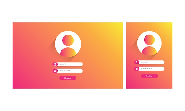 Illustraion of log in template Free Vector