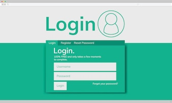 Illustraion of account login template