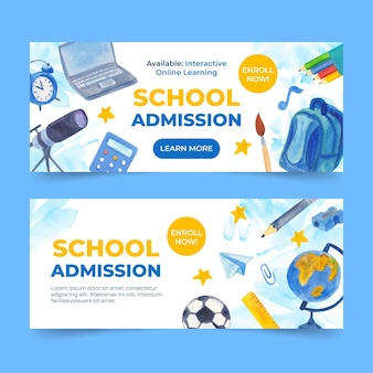 Illustrated back to school banners