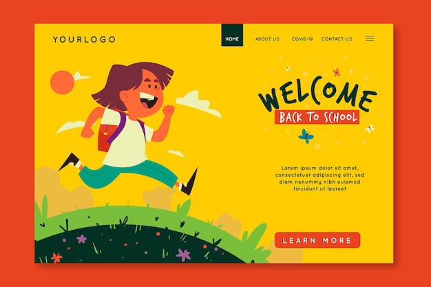 Illustrated back to school landing page