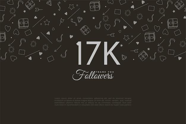 Иллюстрированные фоны для благодарности 17к подписчикам