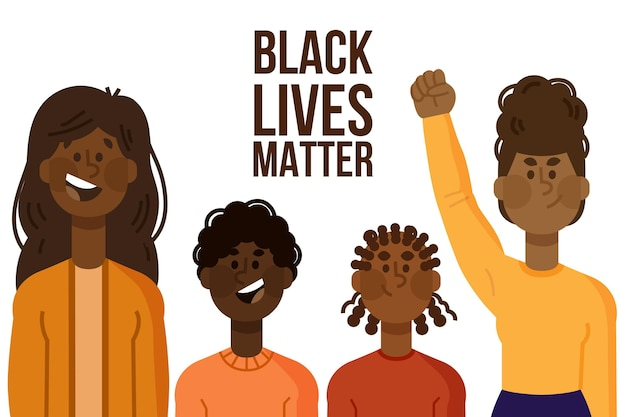 Illustrated black lives matter concept