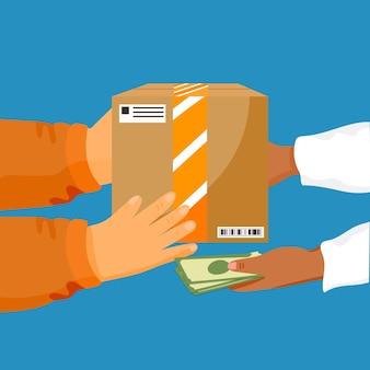 Pagamento in contrassegno illustrato concetto