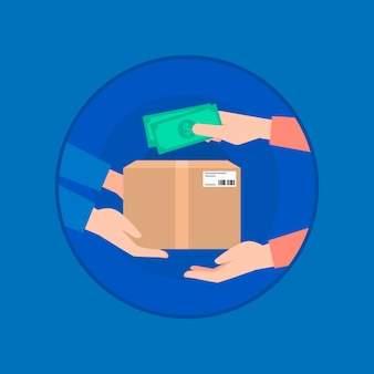 Illustrated cash on delivery