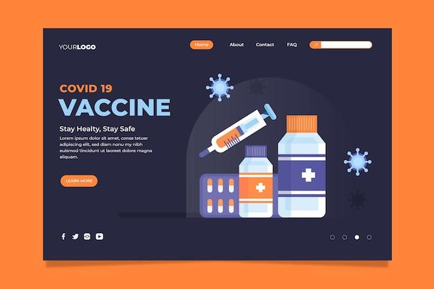 코로나 바이러스 백신 방문 페이지 템플릿 일러스트