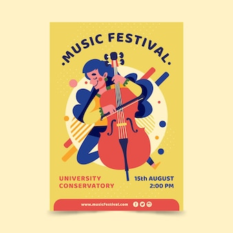 Illustrated design music poster