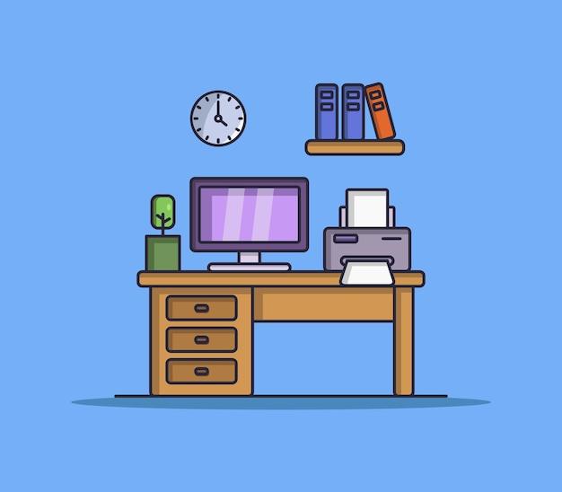 Illustrated desk