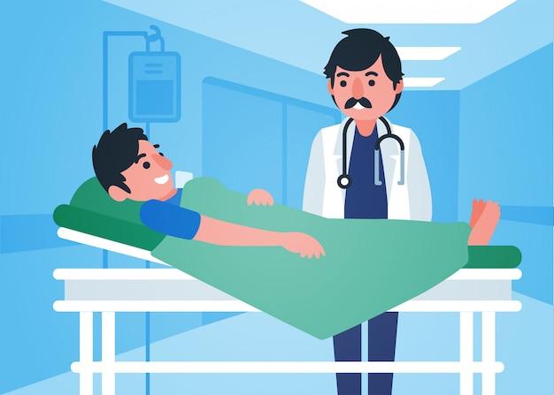 図解医者が子供を助ける