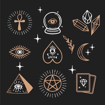 Illustrated esoteric elements