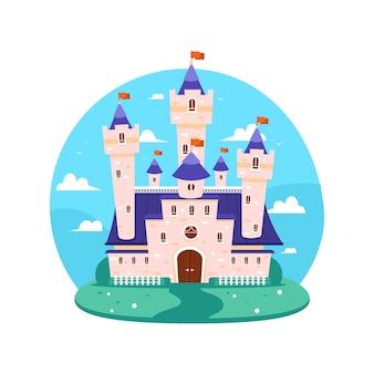 イラストのおとぎ話の城