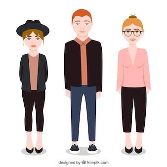 Иллюстрированные модные подростков