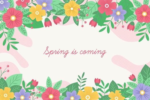 図解花の春の背景