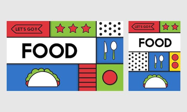 Illustrato del fondo della carta da parati dell'alimento