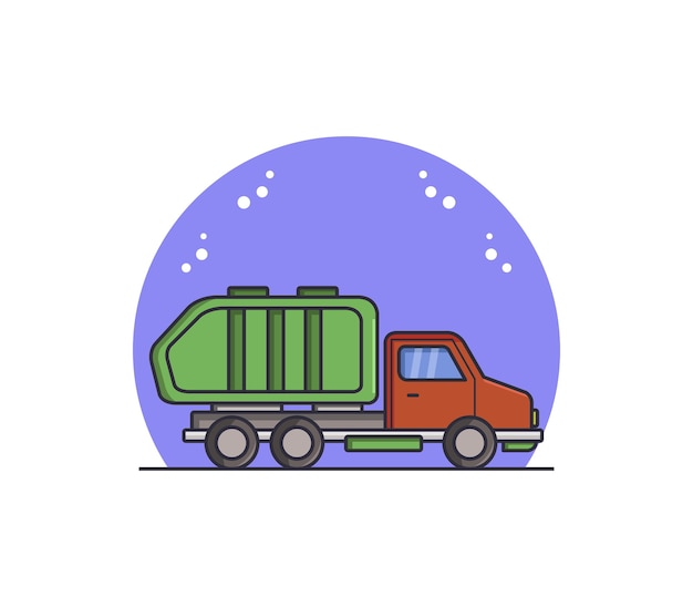 Illustrated garbage truck