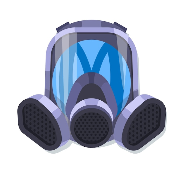 Illustrated gas mask respiratory