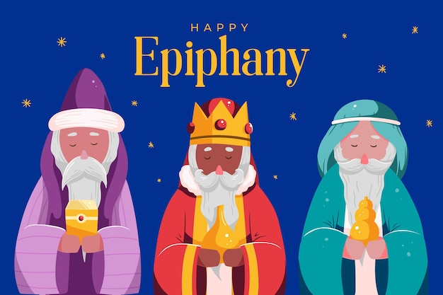 Illustrated hand drawn epiphany characters