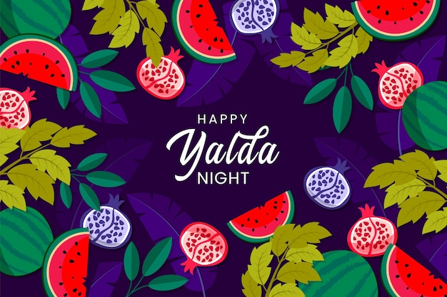 Illustrated hand drawn yalda wallpaper