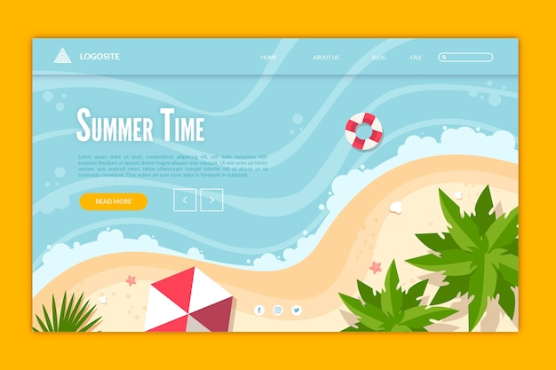 Illustrated hello summer landing page