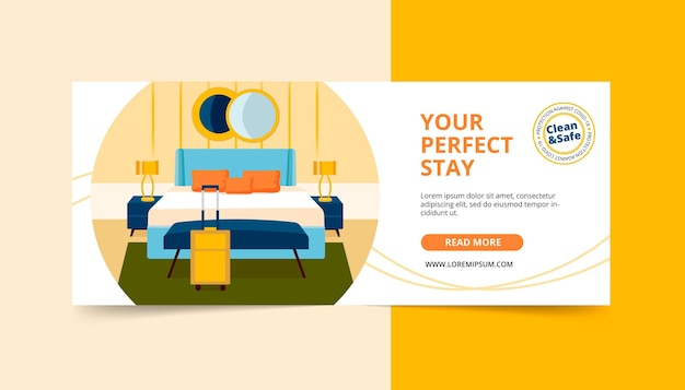 Illustrated hotel banner template