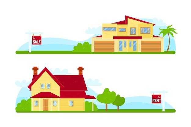 판매를위한 그림 된 집