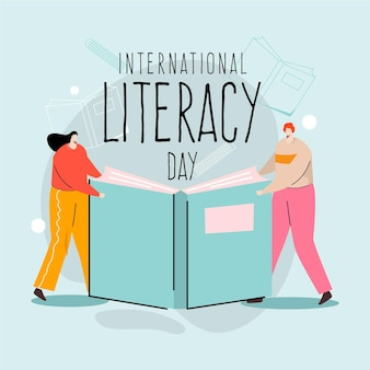 Illustrated international day of literacy