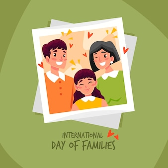 家族のイラスト入りの国際デー