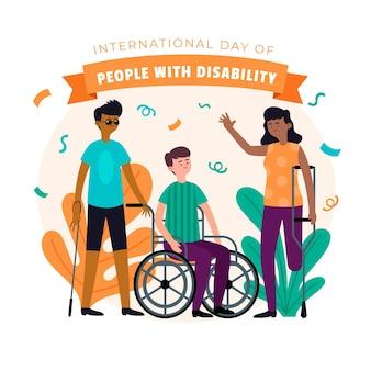 障害者のイラスト入り国際デー