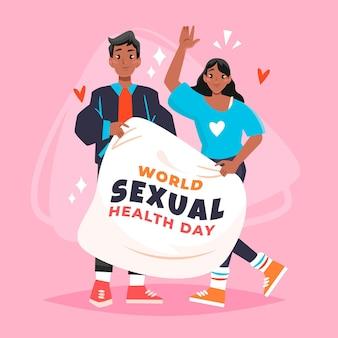 Giornata internazionale illustrata della salute sessuale Vettore gratuito