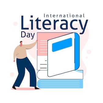 Illustrated international literacy day