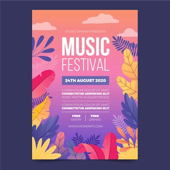 Illustrated music festival flyer