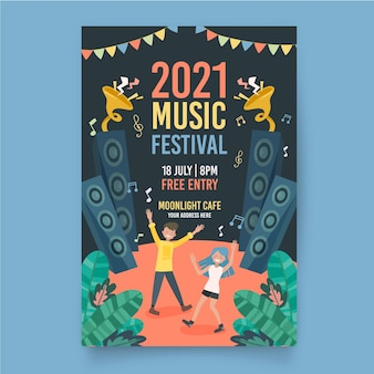 Illustrated music festival poster