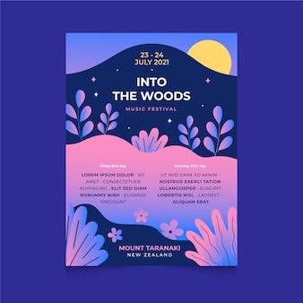 Illustrated music festival poster