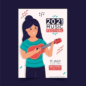 Иллюстрированный плакат музыкального фестиваля