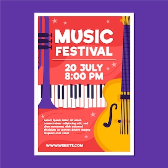 Illustrated music poster