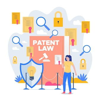 Illustrated patent law concept