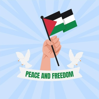 Illustrated peace and freedom background