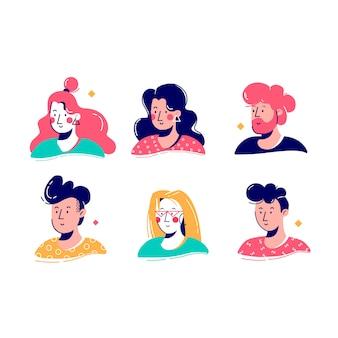 그림 된 사람들이 아바타 컬렉션 디자인