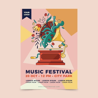 그림 된 포스터 음악 이벤트