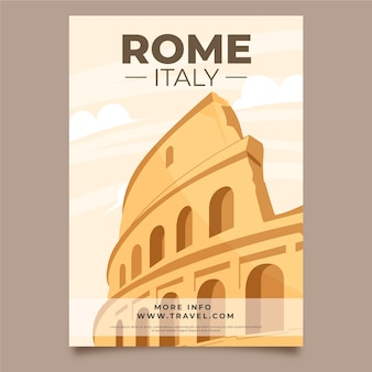 Illustrated poster template for travel