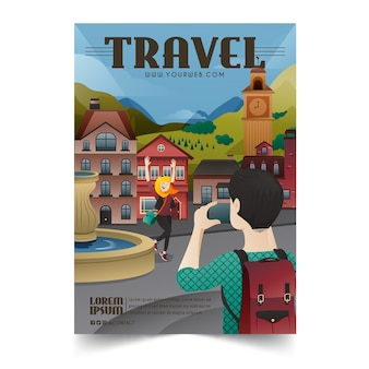 Illustrated poster for travelling lovers with details