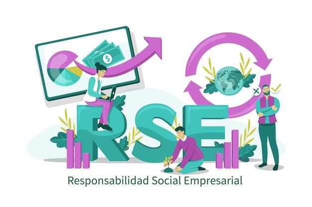 Иллюстрированная концепция rse, иллюстрированная