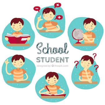図示された学校の生徒