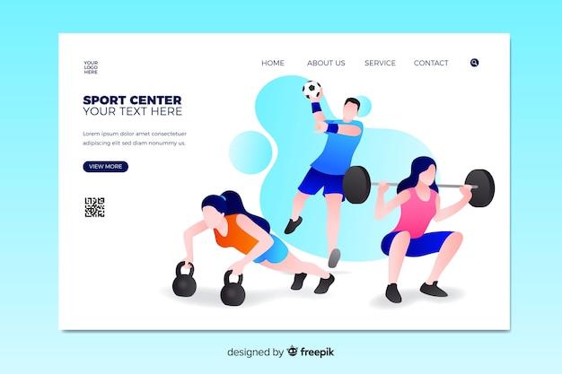 Modello di pagina di destinazione sport illustrato
