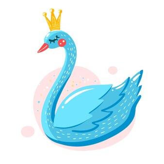 Illustrated swan princess