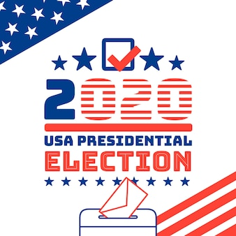 Illustrated us presidential election in 2020 concept