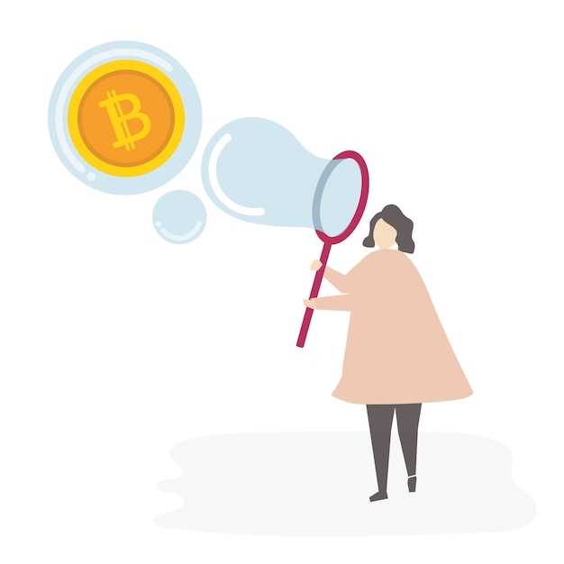 Illustrated woman with currency