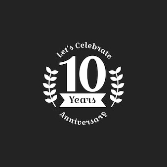 Illustration of 10th anniversary stamp banner